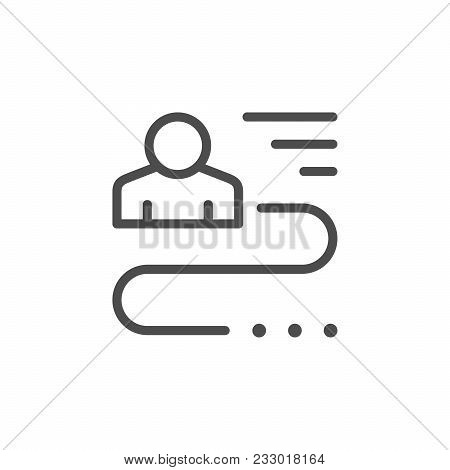 Person Connection Line Icon Isolated On White. Vector Illustration