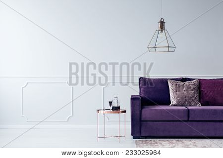 Cropped Couch And Chandelier