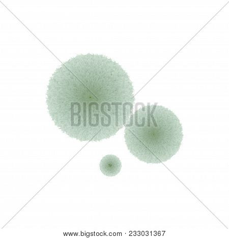 Green Mold Fluffy Thread Isolated On White Background. Stock Vector Illustration Of Fungi Growing On