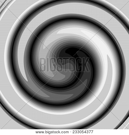 Dark Abstract Background With A Rotating Spiral Swirl Black And White Cyclical Twirl Vortex For Desi