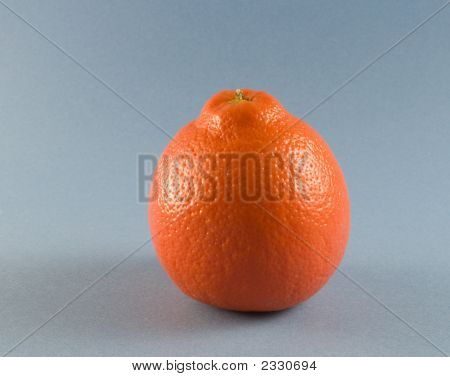 Isolated Orange On Blue