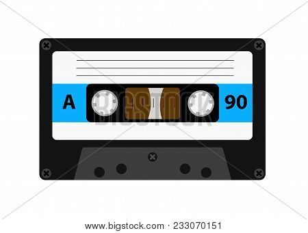 Audio Cassette Old Tape Recorders Used In The 80s Of The 20th Century. It Can Be Used As An Illustra