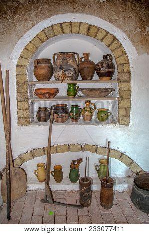 Specific Objects From One Interior Of Slovakian Farmhouse, The Banat Region (part Of Transylvania),