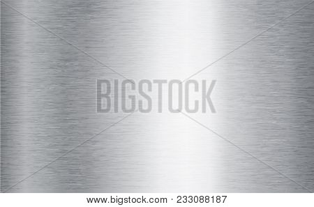 Metal Abstract Technology Background. Aluminum With Polished, Brushed Texture, Chrome, Silver, Steel