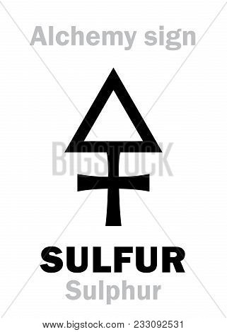 Alchemy Alphabet: Sulfur (sulphur), One Of Three Primes, Contains Alchemical «phlogiston»; Also: Bri