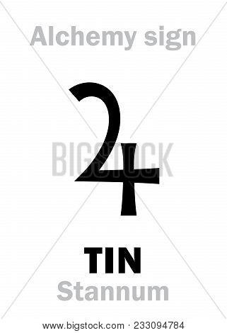 Alchemy Alphabet: Tin (stannum, Plumbum Album), One Of Seven Ancient Metals; Eq.: Tin, White Lead. C