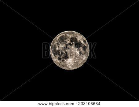 Closeup Of Full Moon, Taken On August 10, 2014