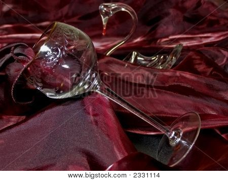 Tissue, Cut-Glass And Swan