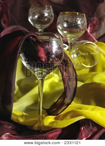 Wineglasses And Tissue