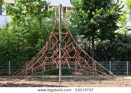 Climbing Net On A Playground