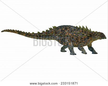 Polacanthus Dinosaur Side Profile 3d Illustration - Polacanthus Was An Armored Herbivorous Dinosaur