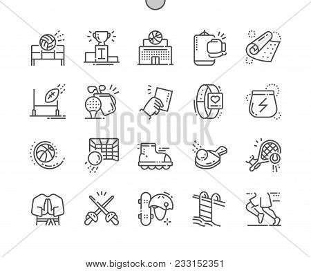 Sport Well-crafted Pixel Perfect Vector Thin Line Icons 30 2x Grid For Web Graphics And Apps. Simple