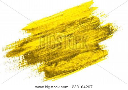 Yellow Watercolor Texture Paint Stain Brush Stroke