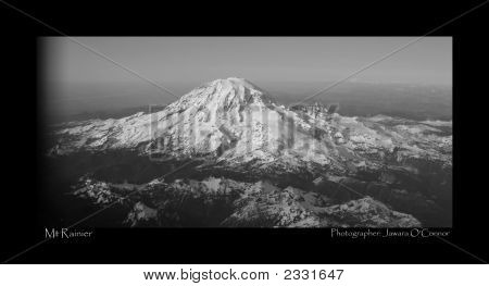 Mount Rainier In The Black And White