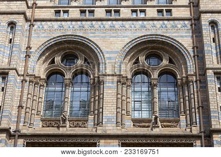 London, United Kingdom - June 23, 2017 : Natural History Museum With Ornate Terracotta Facade,  Vict