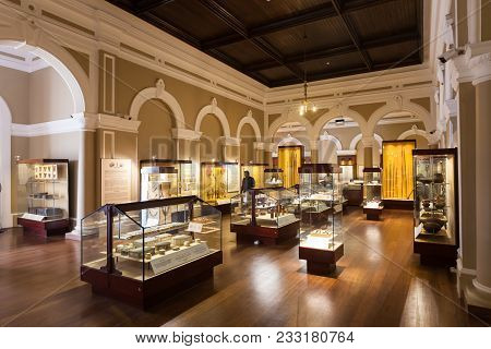 Colombo, Sri Lanka - February 27, 2017: Exhibits Inside The National Museum Of Colombo, Sri Lanka. S