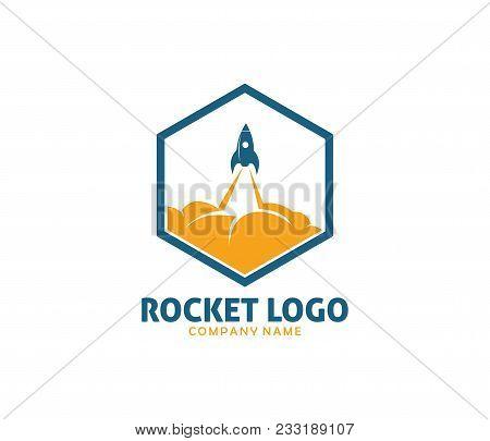 Rocket Advance Technology Launching Vector Logo Design