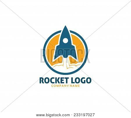Rocket Advance Technology Launching Vector Logo Design