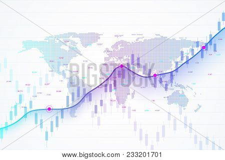 Stock Market And Exchange. Candle Stick Graph Chart Of Stock Market Investment Trading. Stock Market