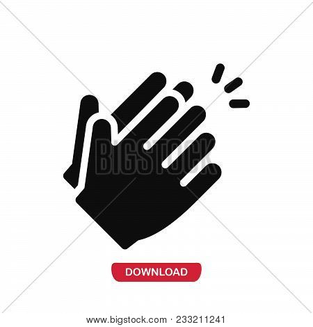 Clap Hands Icon Vector In Modern Flat Style For Web, Graphic And Mobile Design. Clap Hands Icon Vect