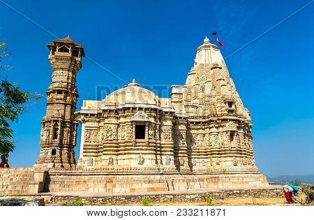 Digambara Jain Temple At Chittorgarh Fort. Unesco World Heritage Site In Rajastan State Of India