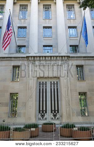 Department of Justice Building in Washington DC - United States of America