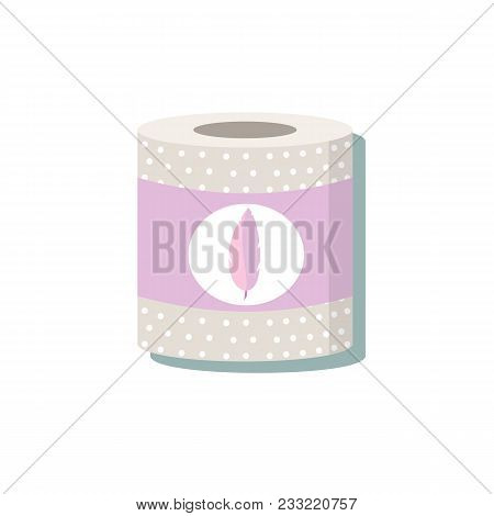 Toilet Paper Colored . Stock Flat Vector Illustration.