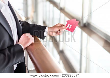 Real Estate Or Architecture Business. Architect, Banker, Realtor, Agent, Businessman Or Broker Holdi