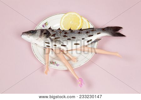 Lemon Fish Pink Plate Doll And Thorns