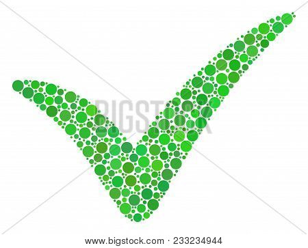 Yes Composition Of Dots In Different Sizes And Color Tinges. Dots Are Combined Into Yes Vector Colla