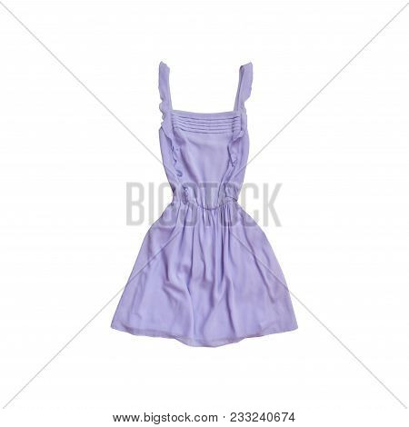 Lilac Dress. Fashionable Concept. Isolated. White Background