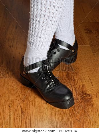 Feet In Irish Dancing Shoes