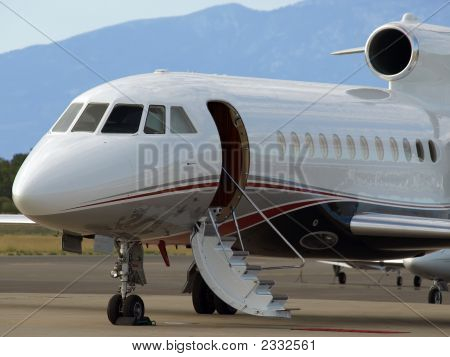 Bussiness Jet Stairway