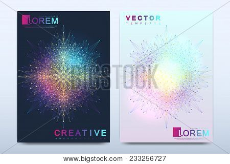 Modern Vector Template For Brochure, Leaflet, Flyer, Cover, Catalog, Magazine Or Annual Report In A4