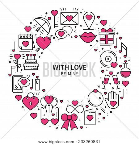 Circle Frame Love Vector & Photo (Free Trial) | Bigstock