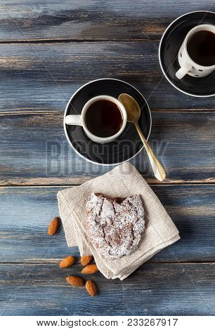 Pan Dei Morti. Italian Biscuits For The Autumn Holidays. Traditional Cookies  And Coffee. Is A Sweet