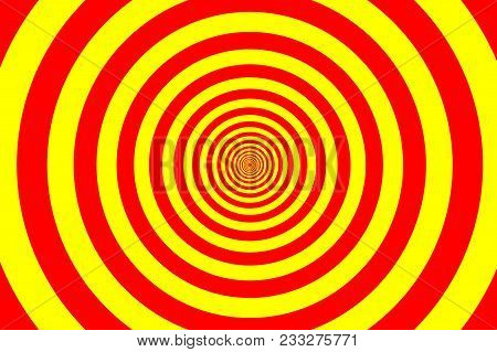 Concentric Circle Elements Pattern, Red And Yellow Color Ring, Circle Spin Target,