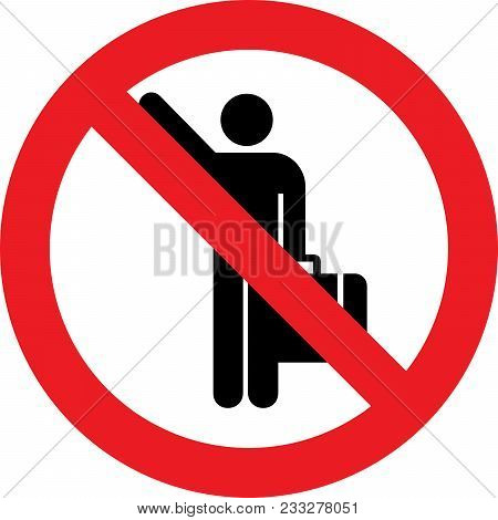 No Hitch-hiking Allowed Sign On White Background