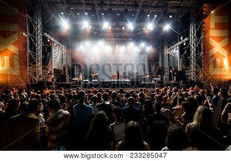 Novi Sad, Serbia - July 05 : Teachers Performing On Main Stage During The Exit Festival 2017, Summer