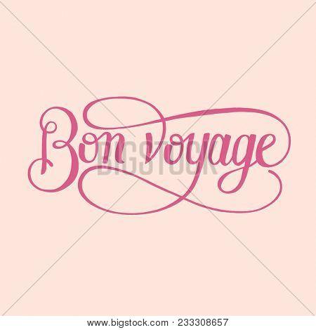 Bon voyage handdrawn illustration