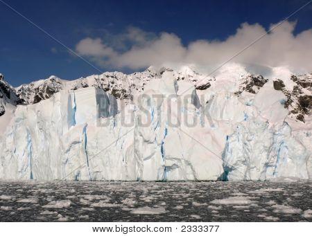Glacial Wall In Antarctica