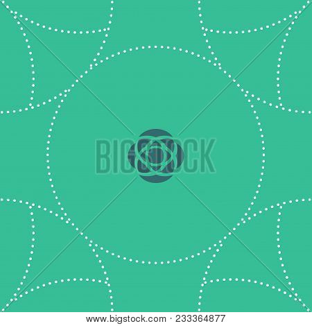Seamless Green And Rose Pattern