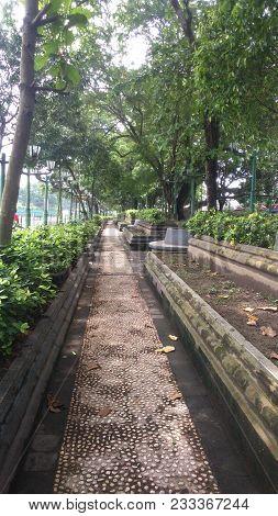 Malioboro Street Park in Yogyakarta City Indonesia