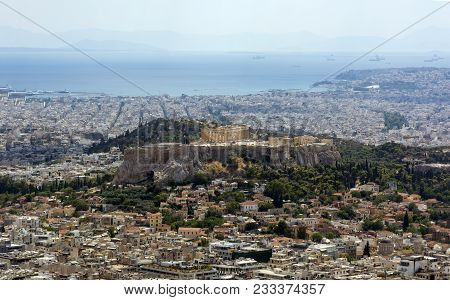 View Of Athens From Above, View Of The Acropolis From Above, Cityscape, City, Capital Of Greece, Par
