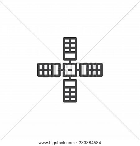 Satellite Outline Icon. Linear Style Sign For Mobile Concept And Web Design. Space Satellite Simple