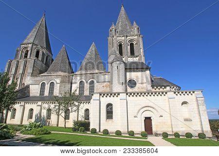 Medieval Collegiate Church Of Saint Oars In Loches