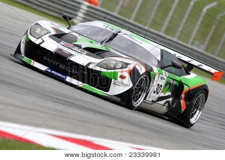 SEPANG - JUNE 17: Frank Yu of Craft Eurasia Racing in a Ford GT GT3 takes to the tracks of the Sepang International Circuit at the GT Asia Series race on June 17, 2011 in Sepang, Malaysia.