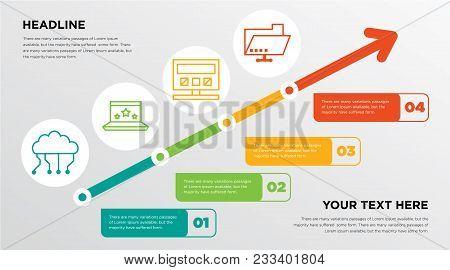 Digital Cloud Computing, Stars In Laptop, Computer, Computing Machine, Folder Sharing Growing Horizo
