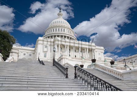 Steps Of The United States Capitol Building In Washington, Dc