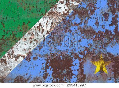 Mato Grosso Do Sul Grunge Flag, States In Brazil